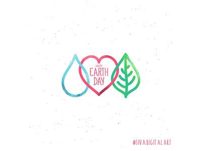 Happy Earth Day! art design doodle earth earthday happyearthday save earth universe nature love minimal illustration sivadigitalart graphic design drawing