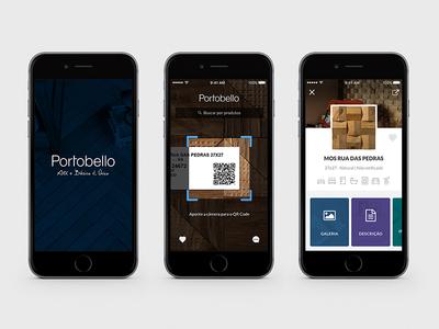 Portobello App portobello qr code ux user experience ui user interface