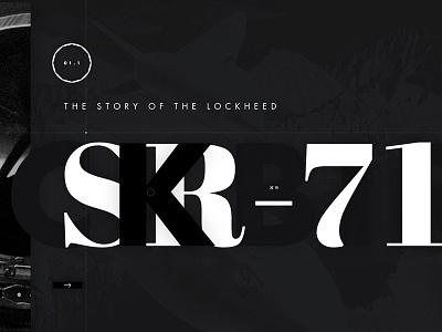 SR-71 Blackbird black blackbird spy plane sr71 web typography web design layout ui ux
