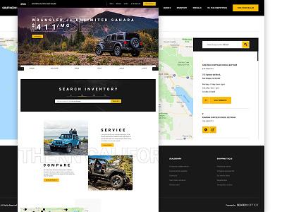 Regional Jeep Dealers car dealership car dealer jeep typography design layout web design ui ux