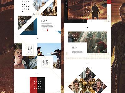 AHOY! black sails pirate typography design layout web design ui ux