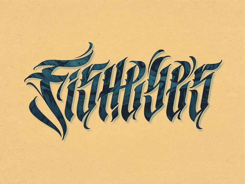 Fisheyes Lettering typographer blackletter letter style typography type