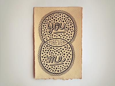 venn-by-pen venn diagram valentine micron pen tea-dyed paper hand-illustrated