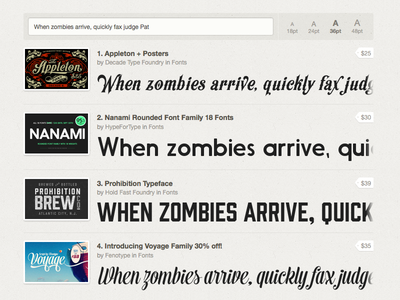 New: Font Previews!