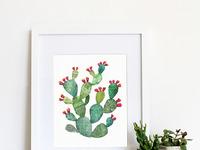 Print pricklypear