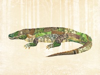 Gator Collage Print