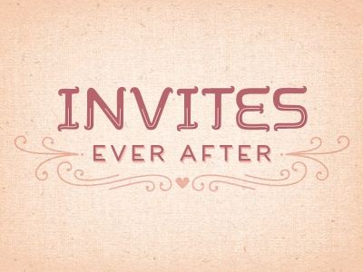 invites-ever-after logo invites-ever-after wedding invitations logo hand-type illustration