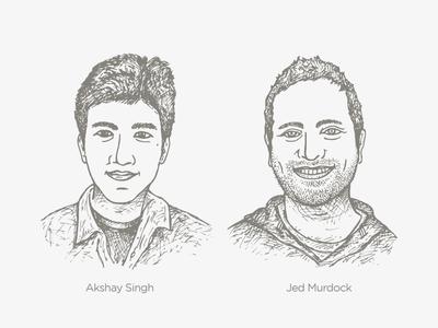 New CM Team Members — Akshay + Jed members team akshay jed creative market market creative cm