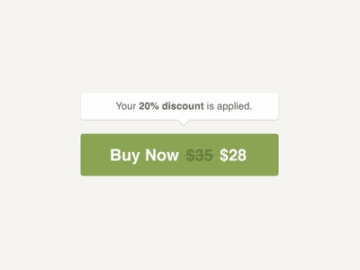 Buy Button: Discount Applied State state ecommerce purchase applied discount now buy cm creative market