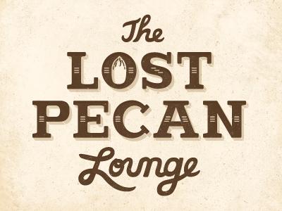 lost-pecan pecan logo custom hand-type