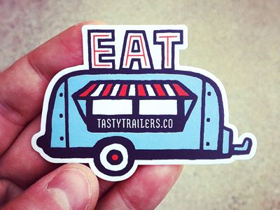 Dribbble trailer sticker
