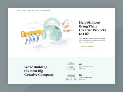 Creative Market Careers Page Refresh