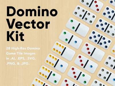 Domino Vector Kit svg eps ai high-resolution kit dominos domino vector for sale asset resource design creativemarket creative market