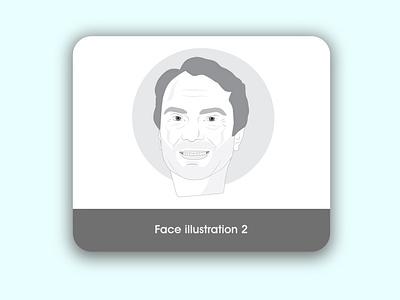 Face illustration nose beard hair brain mouth eyes face logo advance vector illustration design