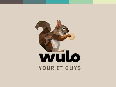 Wulo Logo tech logo it logo squirrel logo branding logo design squirrel logo
