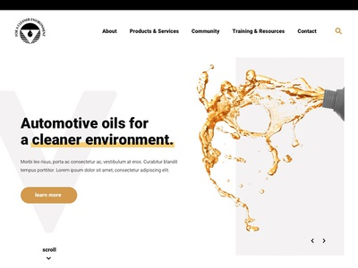 Homepage Concept gold oil ux design ui design ux ui web design homepage