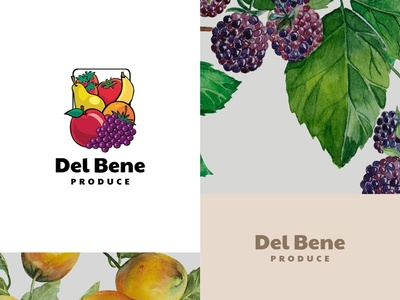 Detroit Produce Branding illustration design logo design branding branding agency branding design print design business cards iconography icons branding logo design logo
