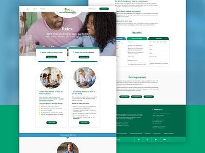 Trademark Properties / Website Design website design development design desktop nav web homepage ux ui web design