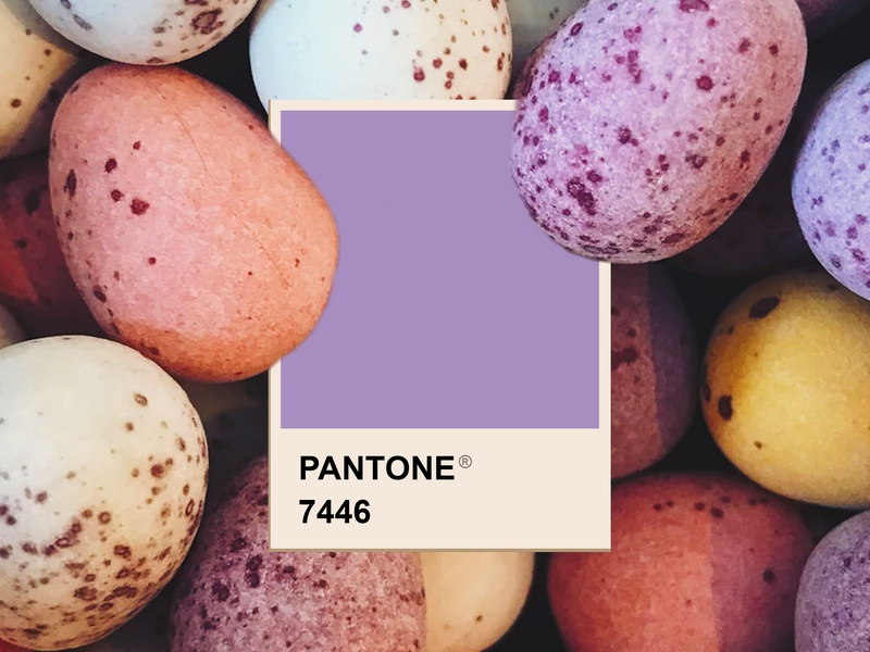Easter design easter pastels purple color palette pantone