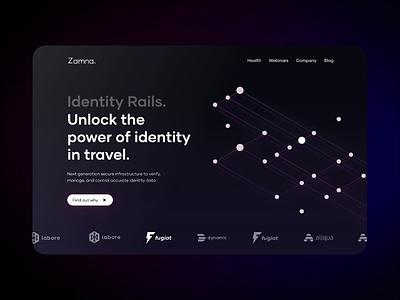 Zamna - Landing Page for Tech Startup web web site studio neon landing zamna design design team app illustration startup movadex branding logo motion graphics graphic design 3d animation ui