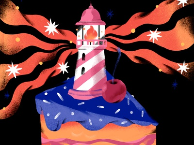 Cake print cake food illustration