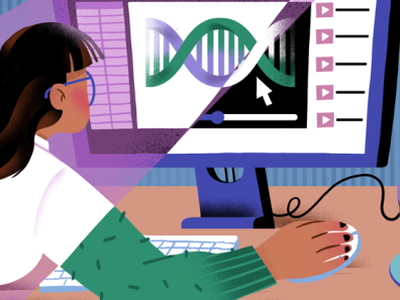 Biotech Online Courses online courses editorial illustration computer science illustration editorial biotech lab science