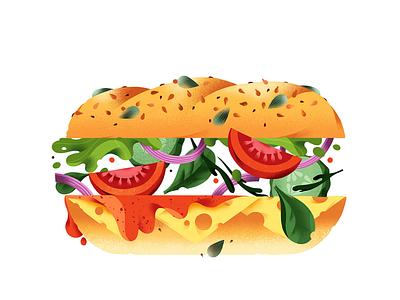 Sandwich fresh sandwich food illustration illustration food