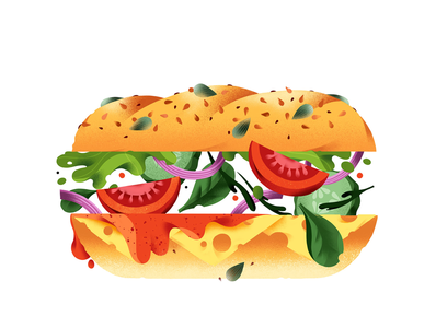 Sandwich fresh sandwich food illustration illustration food