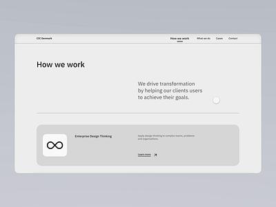 IBM CIC | Microinteractions uiux web web design webdesign website design ui design motion design animation minimalism minimal interface xd adobe xd simple microinteraction interaction website clean design ui