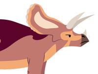 Grumpy Triceratops