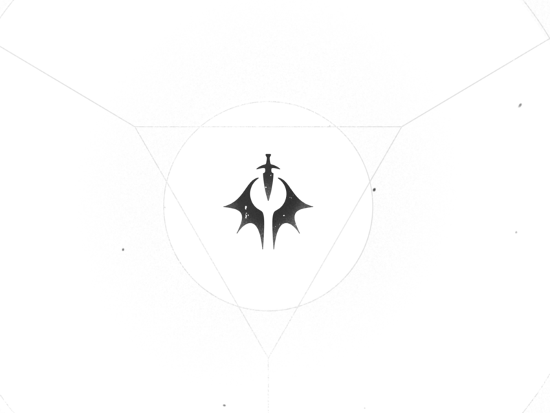 Demon Hunter - Final eye assassin flame dragon design demon slayer demonic hunter demon illustration vector retro white black art deco identity brand branding logo