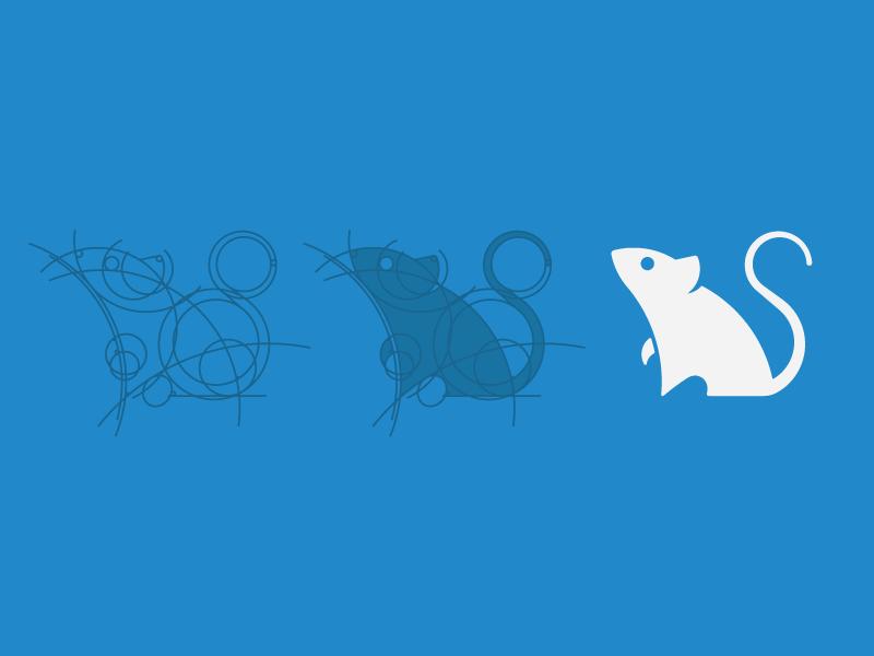 Mouse Grid skillshare mouse blue white grid line simple logo branding