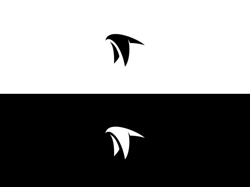 Flapping Falcon falcon bird hawk brand logo black white