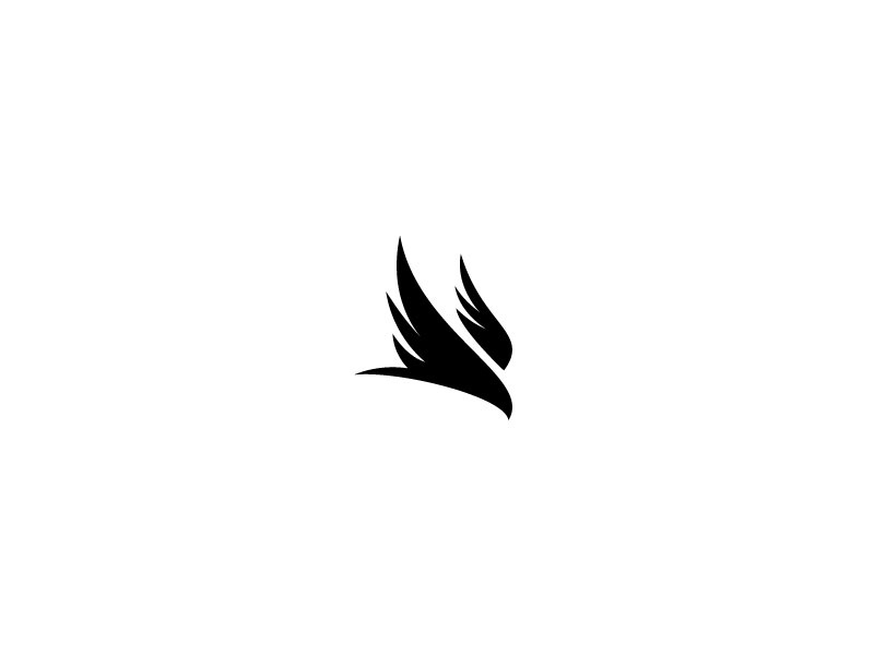 Diving Falcon diving dive falcon bird logo brand black white