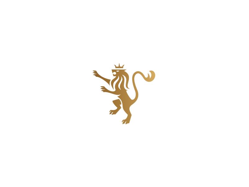 Golden Lion lion logo brand identity heraldry heraldic sketch drawing graphite