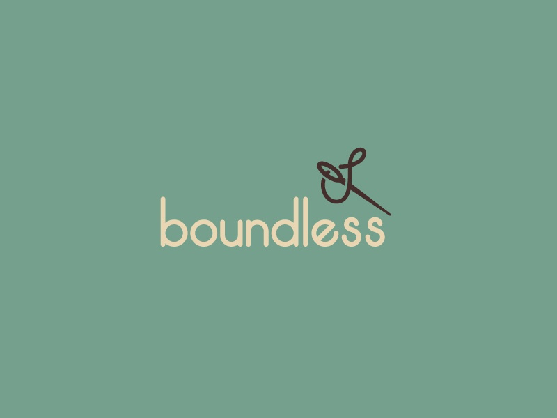 Boundless Closeup boundless needle stitching sewing identity branding logo