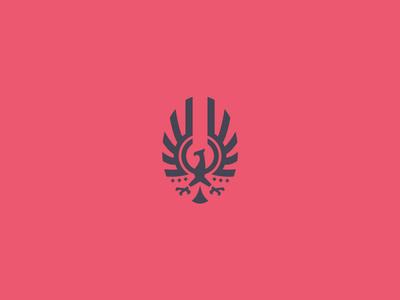 Resurrection fire black red ashes wings badge emblem bird logo brand phoenix