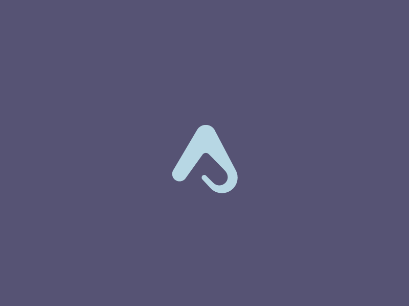 AP negative purple blue identity brand logo ap