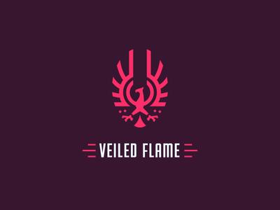 Veiled Flame fire flame emblem bird red branding phoenix logo