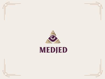 Medjed Detail pyramid logo branding cult occult medjed eye