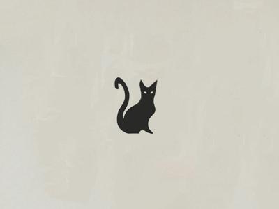 Black Cat procreate painting digital painting black branding meow kitty cat logo