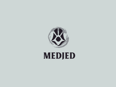 Medjed - Assassin, Eye, Beams art deco identity brand beam branding logo eye assassin