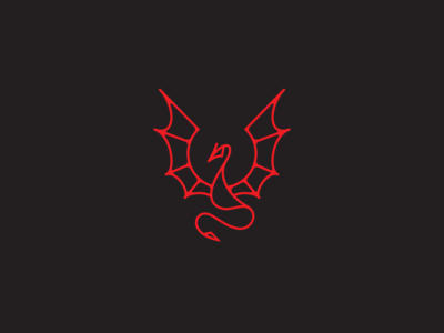 Dragon Logo red drake dragon design illustration art deco identity brand branding logo