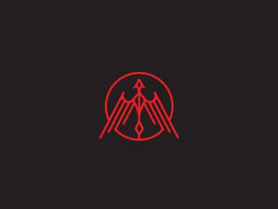 Phoenix/Dragon bird phoenix dragon vector black art deco identity brand branding logo