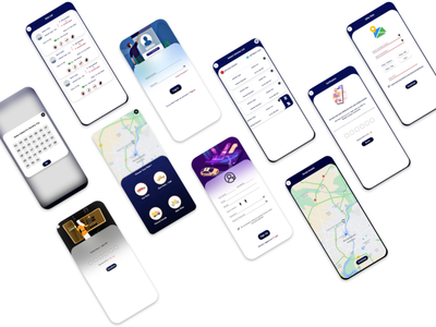 Car Sharing App UI - UI Kit ios android adobe xd delivery parcel vehicle taxi uber ola transport riding cab ui web app