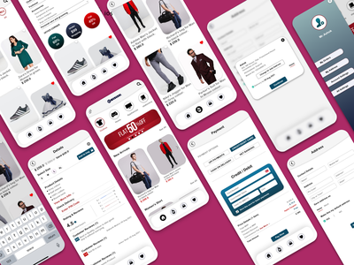 Ecommerce - Mobile Application (Android & ios) app ecommerce store logo branding graphic design ui