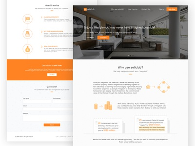 Sell Club Landing Page steps how to website web design web homepage real estate property sell product landing landing page