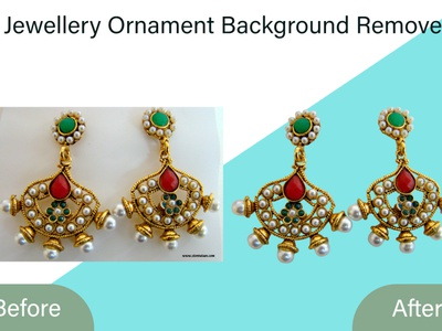 Jewellery Ornament Background Remove background enhancement