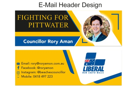 E-Mail Header Design youtube thumbnail business card web banner facebook cover banne e-mail header branding logo graphic design