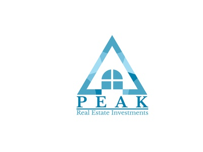 Peak Real Estate Investments real estate logo design branding logo graphic design